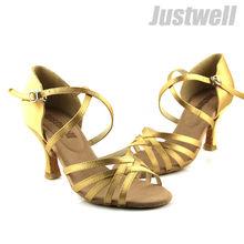 venta caliente nueva llegada tan raso dama zapatos de baile latino