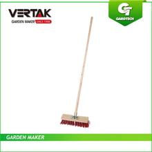 Pleasant working environment nature floor brush(PVC) with wooden handle