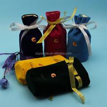 Wholesale printing logo velvet gift bags for jewelry