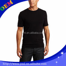 Newest wholesale custom t shirts bamboo cotton mens blank black t shirt