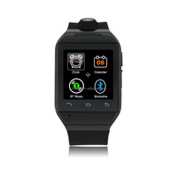 2015 new fashion bluetooth smart watch with pedometer/camera /work with IOS and Android Mobile phone