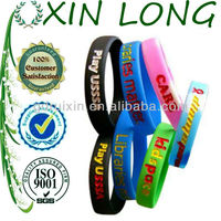 Europe style sport silicone bracelets for nba