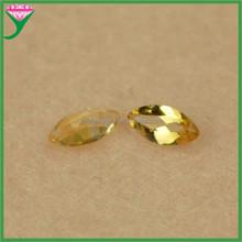 Supplier rough loose marquise shape natural yellow topaz quartz precious stone