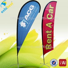China factory custom flags and banners single sided polyester flag banner for sale