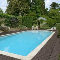 wpc prefab decks for swimming pool surrounds