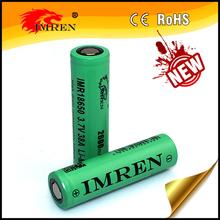 Top selling! IMREN 18650 2600mah High Drain battery Ecig mod 38A High amp 3.7V rechargeable battery PK 35A batteries