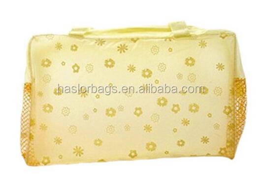 Pas cher vinyle transparent sac cosmétique pour la Promotion