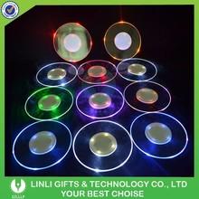 Barware/Night Club Flashing Plastic Led Coaster,LED Bottle Coaster,Bottle Coaster LED With Logo