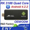 Quad Core RK3188 CortexA9 2GB 8GB Bluetooth Android 4.2 Mini TV Dongle