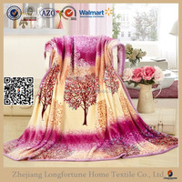 buy direct from mexico flower pattern printed fleece blanket NZW091
