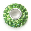 August Green Birthstone Crystal Spacer Beads Fits Snake Chain Charm Bracelet
