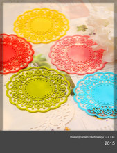 2015 soft eco-friendly silicone table mat , cup coaster , coffee cup pad