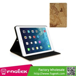 Fast Shipping for iPad Air World Map Flip Leather Case w/ Stand