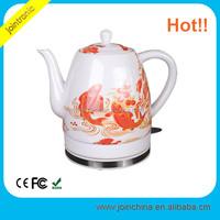 Popular 1.2L Electric Porcelain Kettle China Rose Pattern 110V Water Kettle
