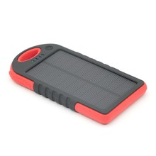 High Quality 5000mah Portable solar battery mobile charger/solar powerbank