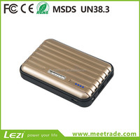 Factory direct sale travel box 20000mAh 2 USB ports mobile phone portable charger