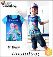 2015 New kids cartoon Olaf t-shirt boys girls short sleeve cotton tees tops children cartoon summer t shirts