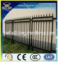High Quality Faux Wrought Iron Fence Supplier / Decorative Wrought Iron Fence
