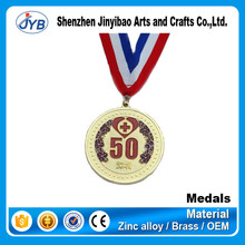 Newest Style Customized Souvenir Gift 3D Metals Medal with Standard Ribbon