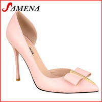 Latest pointed toe high heel OL ladies shoes