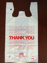 For supermarket shopping thank you T-shirt plastic bag