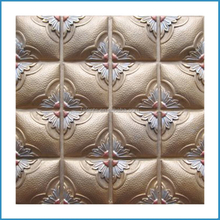 Faux leather 3D indoor wall,background wall brick,resin wall tile