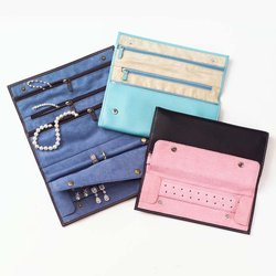 Leather Jewelry foldable Bag for Travel,Leather Jewelry Case