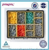 hot sale!!!High quality factory 700pcs assorted wood screw&anchor assortment