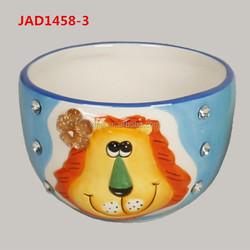 Lion animal cheap decorative ceramic bowl