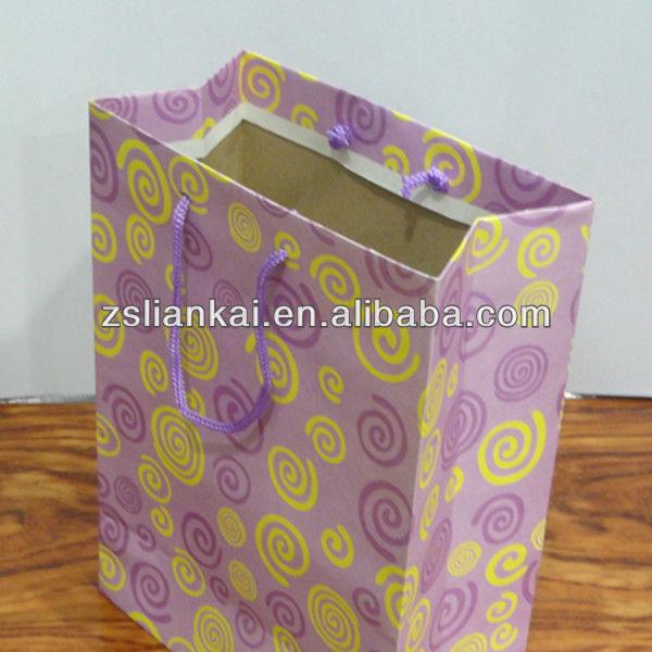 Costume impresso saco de papel kraft com impressão DO LOGOTIPO