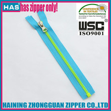 HAS zipper fluorescent green/yellow short or long tyle pretty pensil case personalized zippers
