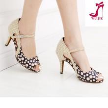 2015 new arrival flower satin summer women dance shoes