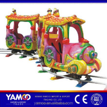 Happy kids amusement park rides track train/ amusement park trains for sale