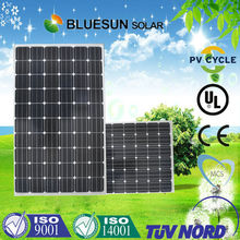 Bluesun cheap CIF price 250w monocrystalline solar panel module