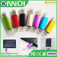 100% high quality OEM otg usb flash drive /usb pen drive bulk cheap metal 8gb 16gb 32gb 64gb 128gb