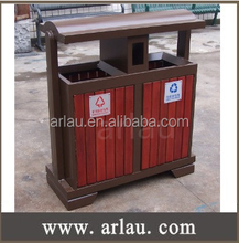 Timber Slated trash Bin Ideal for Parks outdoor use
