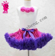 Hot sales multicolor Full Fluffy Chiffon Soft Pettiskirts dress for Little Girls Kids