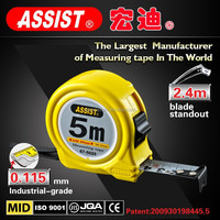 salable in Asia ASSIST brand 3m 5m 5.5m 7.5m 8m 10m water proof new abs plastic steel tape measure