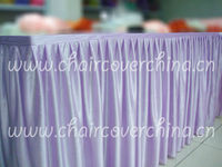 Ruffled table skirt ,decorative table skirts for banquet