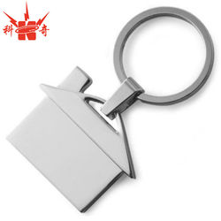 Personalized Keychain House with custom Logo on Blank Metal keychain House
