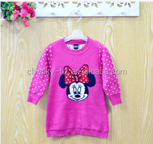 Top quality safety material custom cute sweater designs for baby girls