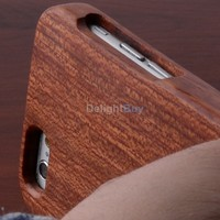 Stylish Bamboo Wood Two Part for iPhone 6 plus 5.5 inch Back Case Cover