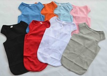 Dog Clothing Wholesale Small Dog Tanks Top T-shirts Ribbed 100% Cotton Tank AAA Quality