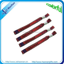 Friendship polyester festival and passion energy woven wristbands