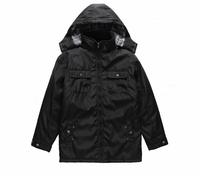 OEM service leather sleeves denim jacket for men