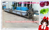 Two/double stage/section bubble cleaning machine for fruits and vegetables