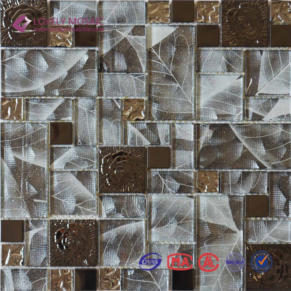 backsplash decorative metal mix glass mosaic tile buy backsplash