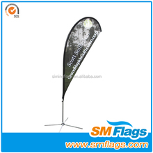 Outdoor Advertising Teardrop street flag pole banner Stand