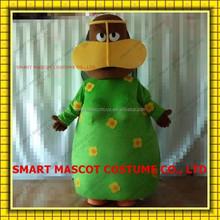 Cartoon life size walking yellow flower pattern green dress freej mascot costume soft plush adult freej mascot costume