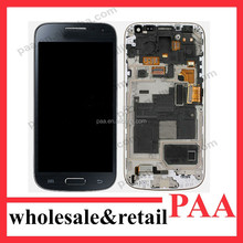 mobile phone parts for samsung galaxy s4 touch screen with frame